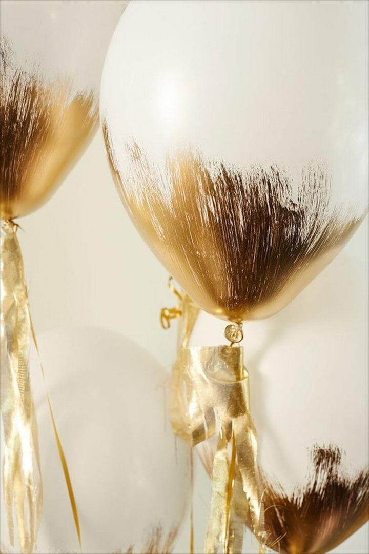 Gold-Brushed Balloons