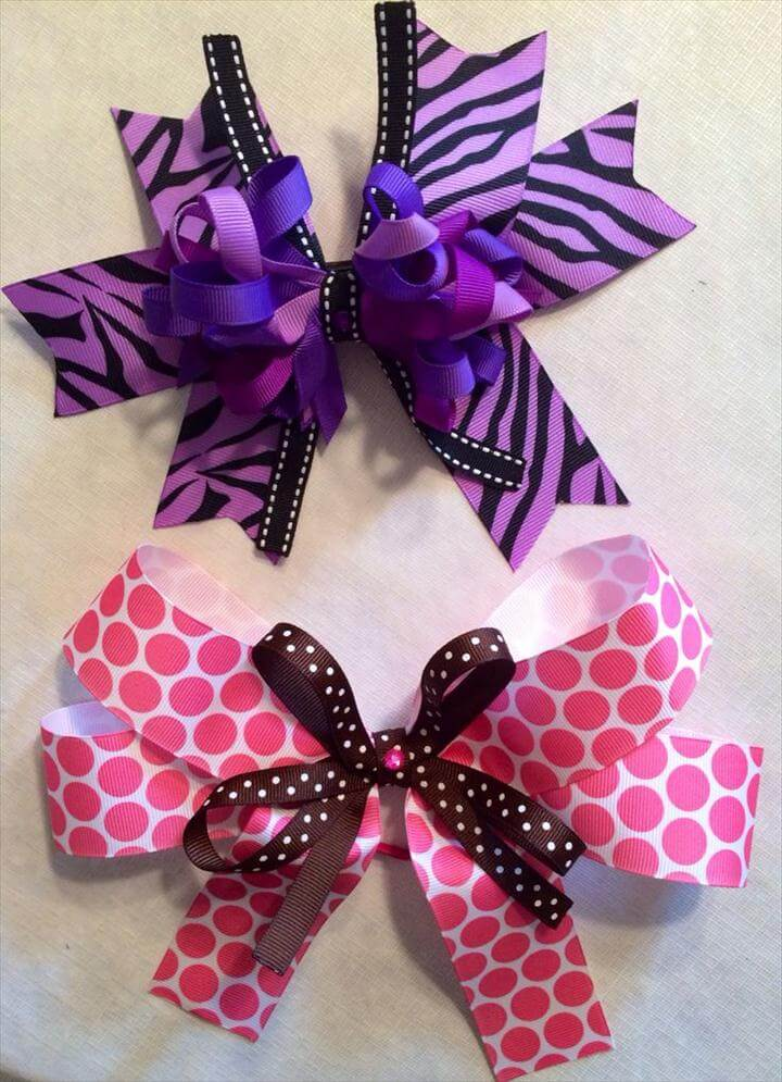 DIY hair bows.