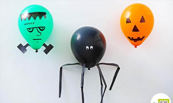 diy balloon halloween decor