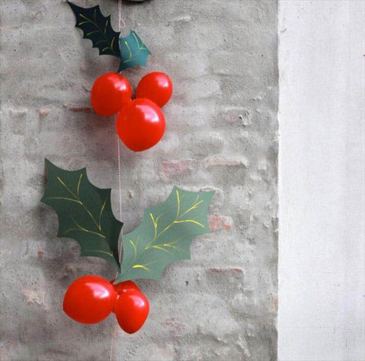 Holly Balloon Garland
