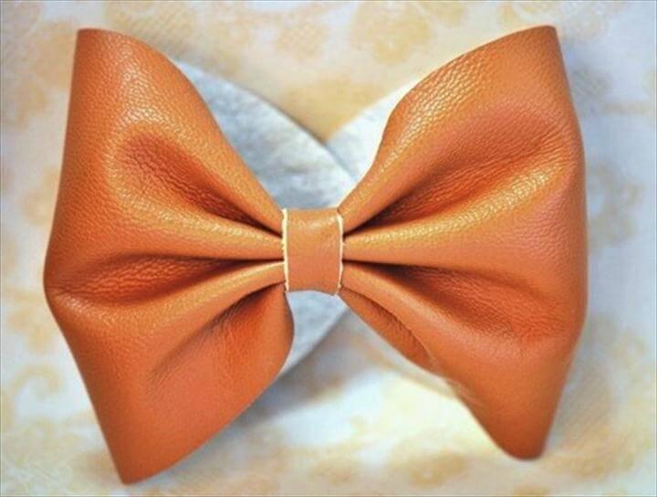 diy pretty leather bow bracelet fab art diy