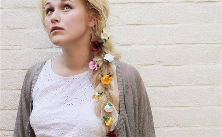 Paper Flower Hair Accessory DIY