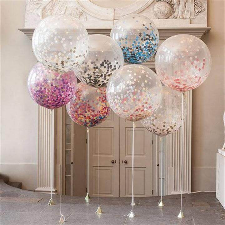 Giant Confetti Filled Balloon