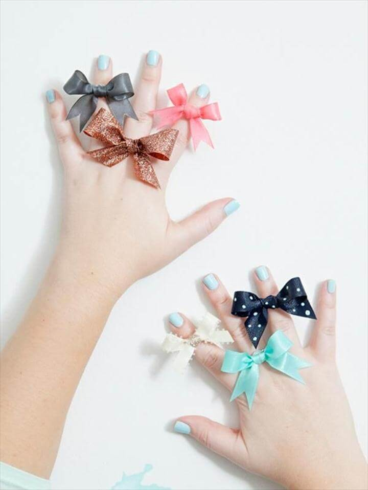 DIY Ribbon Bow : DIY your own ribbon bow rings