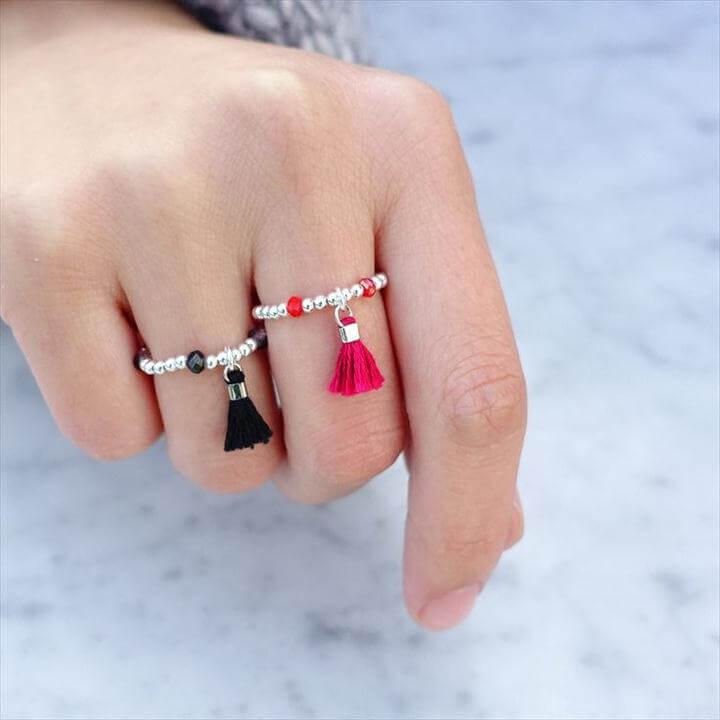Pompom Rouge Sterling Ring