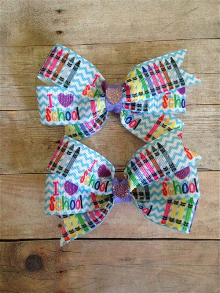 Pinwheel Bow Set School Bows