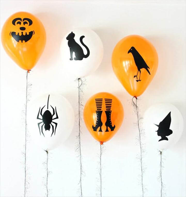 Sharpie Silhouette Balloons