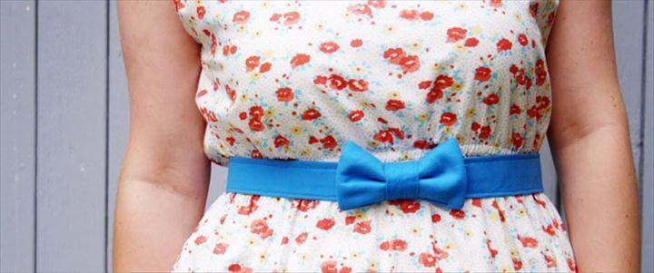 Friday DIY: Bow Belt