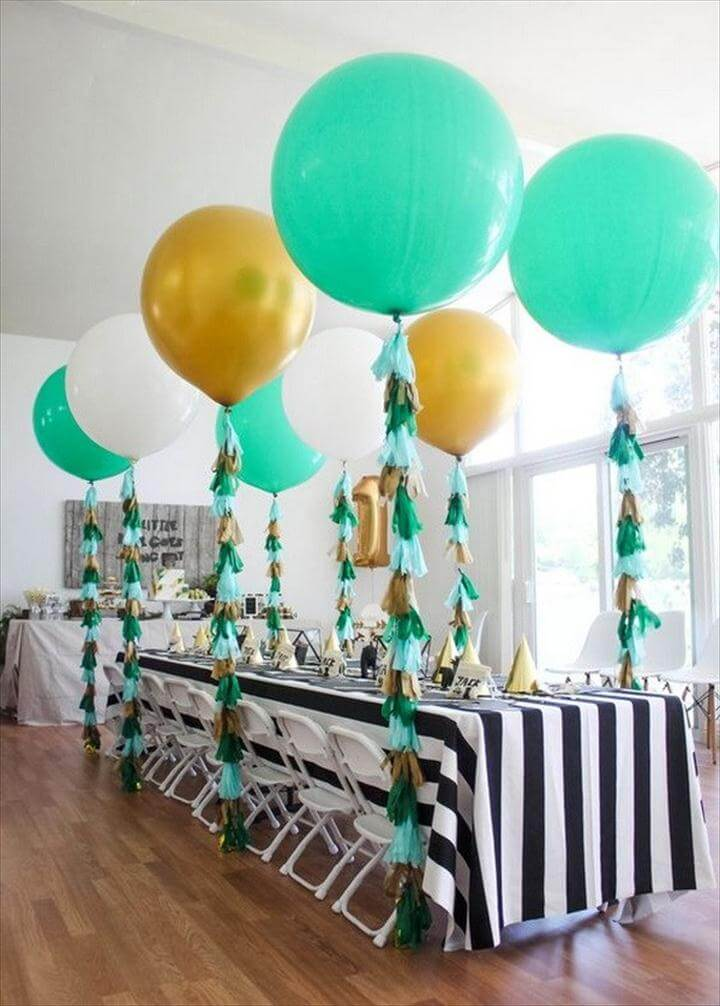 Tassels on the Balloons