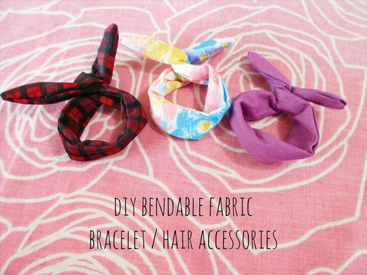 DIY Hair Accessories or Bendable Fabric Bracelet