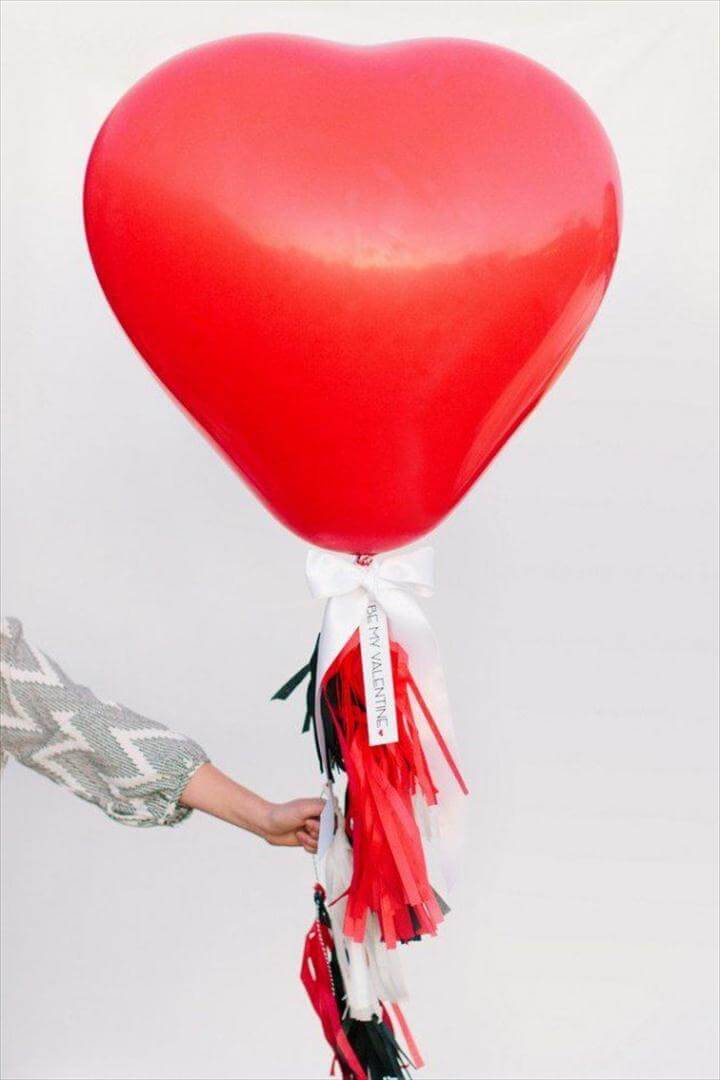 Valentine's day special with heart balloons
