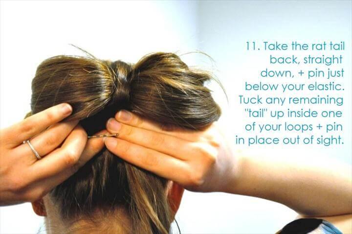 DIY wedding hair ideas bridal updo bow bun