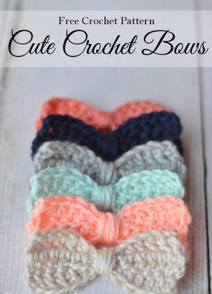 Free Crochet Pattern - Cute Crochet Bows