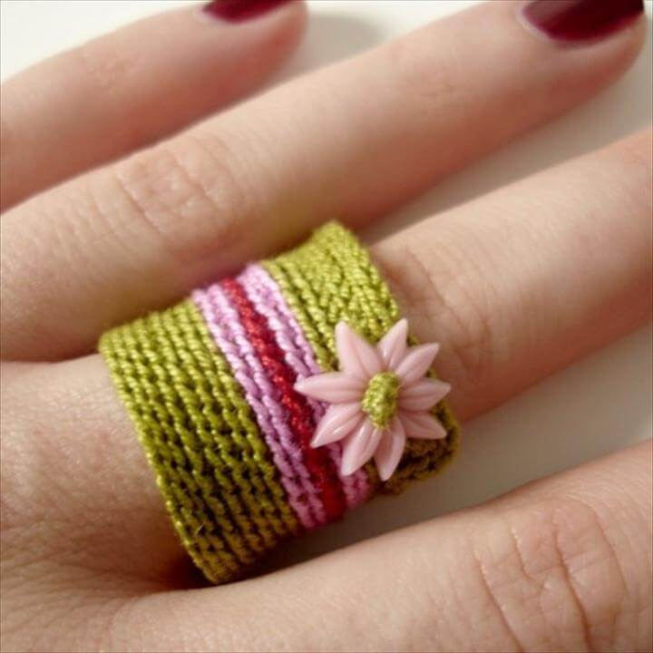 Slip stitch crochet ring