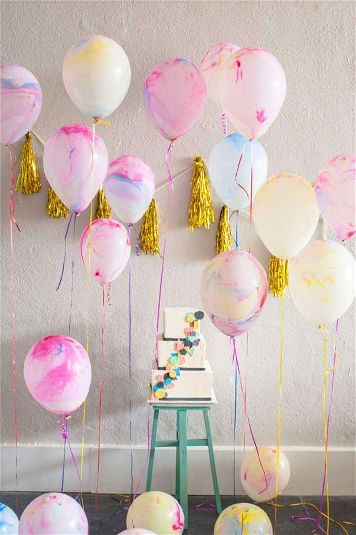 Lovely birthday party balloons