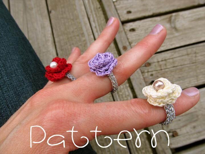 rosette crochet rings