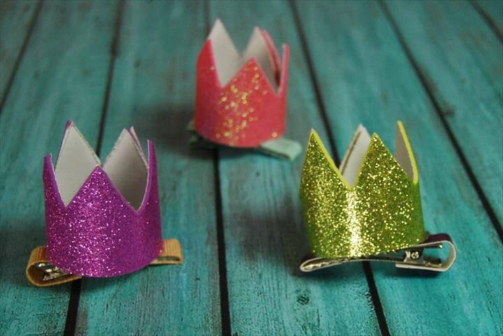diy crown, glitter crown