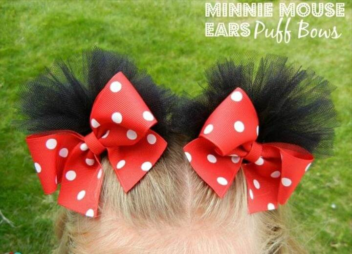 Minnie Mouse Puff Bows