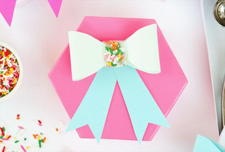 diy bow for gift box