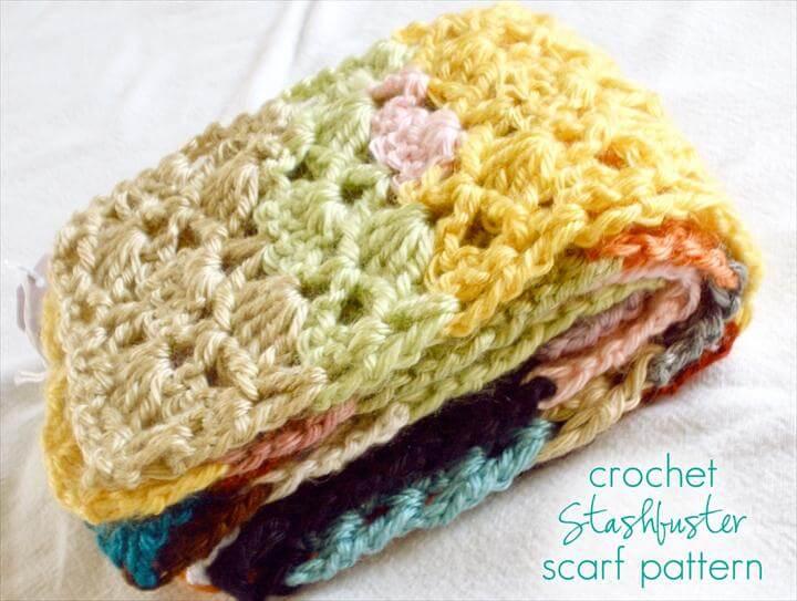 Stashbuster Crochet Scarf - Free Pattern!