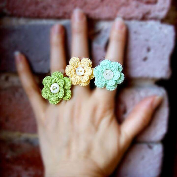 crochet rings tutorial