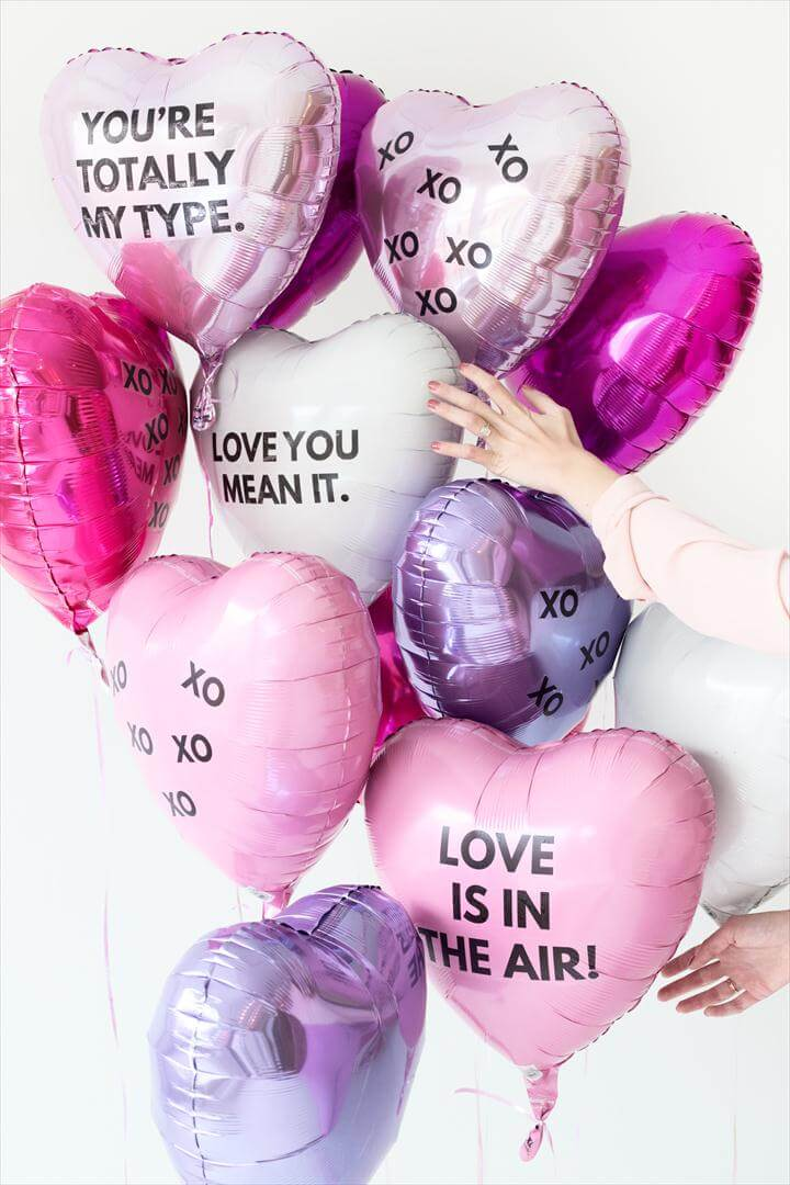 DIY Valentine's Day Balloon Tattoos
