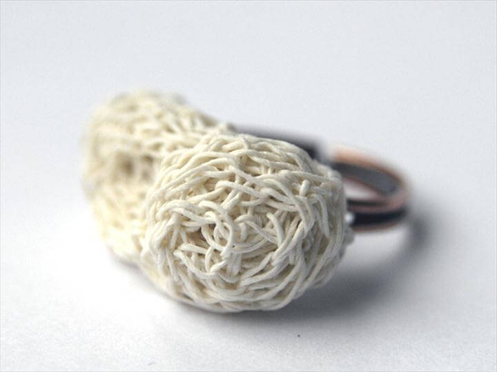 Crochet Cocoon Ring made of Finest Paper Yarn