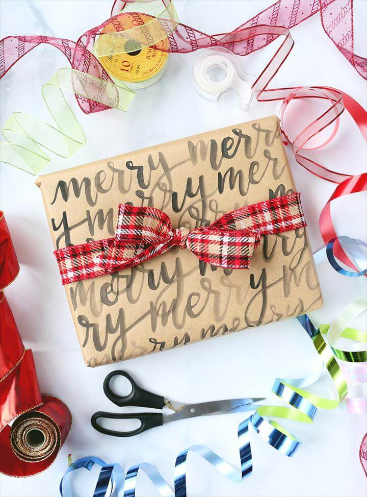 DIY gift wrap ideas, Christmas gift wrap DIY