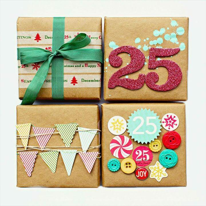 Christmas gift wrap ideas for you!