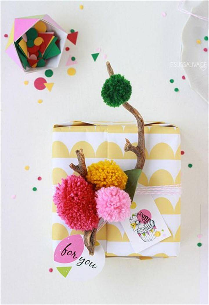Tree Branch Gift Wrapping