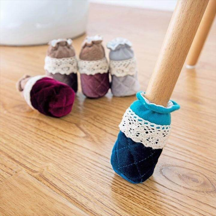 Pcs/Set Creative Cute Cloth Round Chair Leg Protector Sofa Table Foot Socks Mat