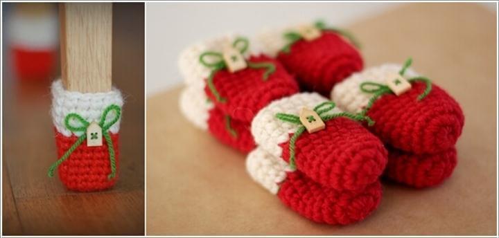 Christmas Chair socks, Christmas home Cristmas decor, Floor protector, chair leg socks, table socks, home decor, Eco-friendly gift, Crochet a Red, White and Green Christmas Themed Sock Set
