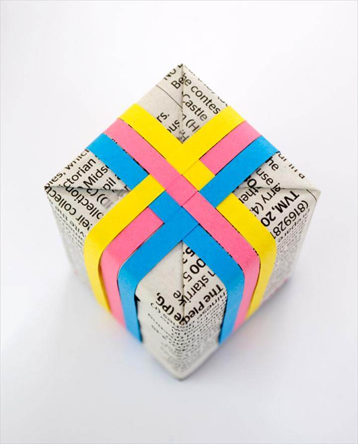 Colorful woven gift wrap. DIY Gift Wrap Ideas