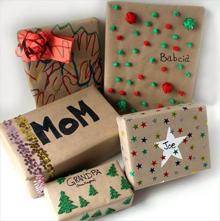 Cute DIY Gift Wrapping Ideas for Kids