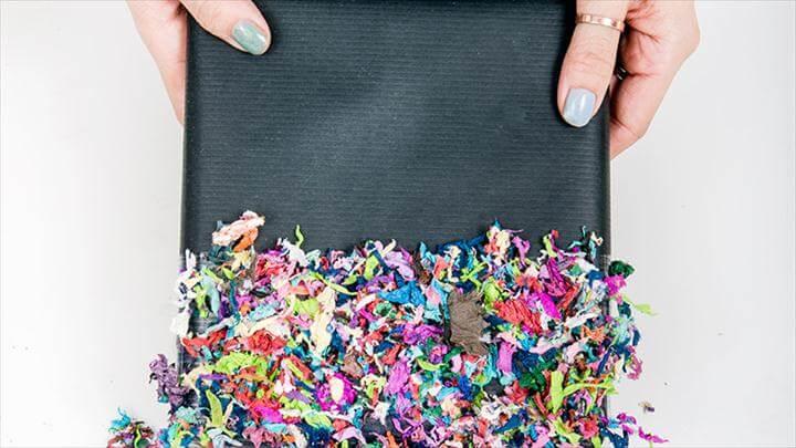 DIY Confetti Dipped Presents