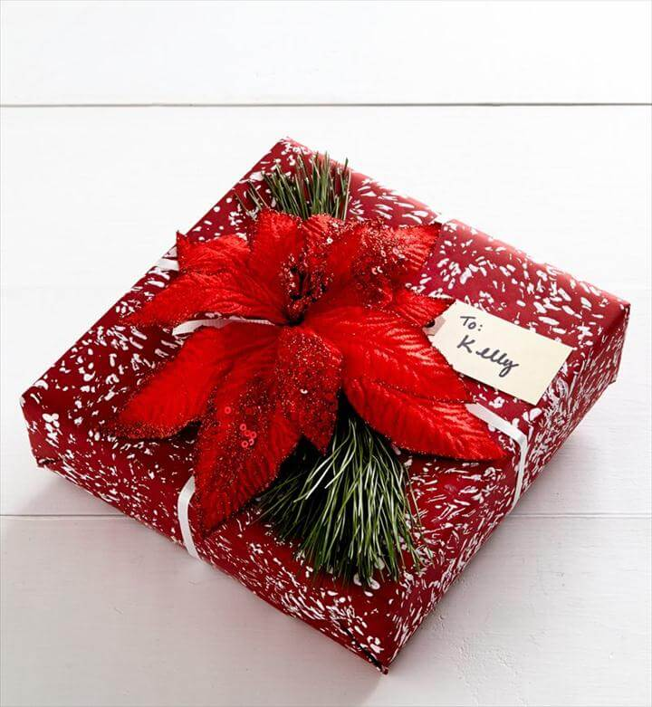 Chrysanthemum Holiday Gift Wrap DIY