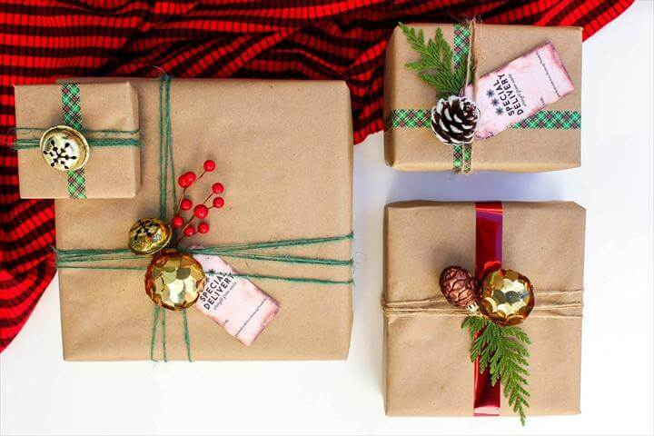 diy gift wrapping ideas, do it yourself, diy ideas, diy crafts