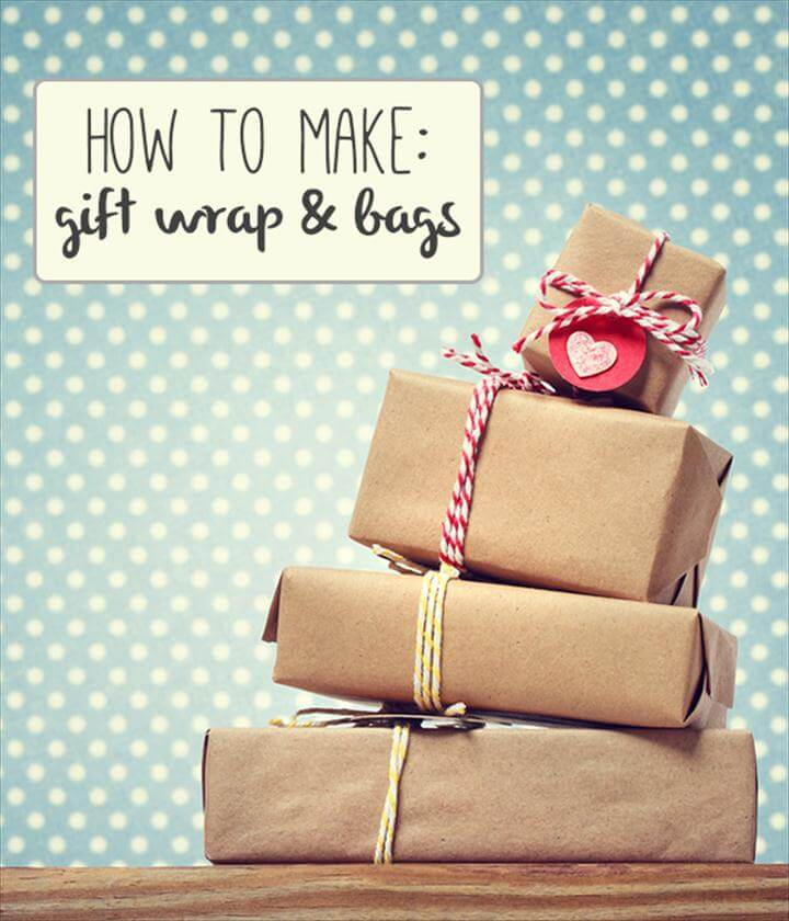 great DIY gift wrap and bag tutorials