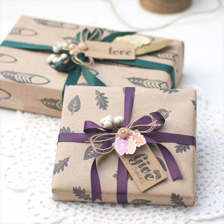Exclusive DIY Gift Wrapping Ideas You Won't Find In A Store - Crafts On Fire