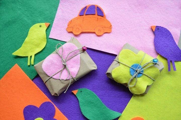 DIY Gift Wrapping Ideas With Paper And Felt