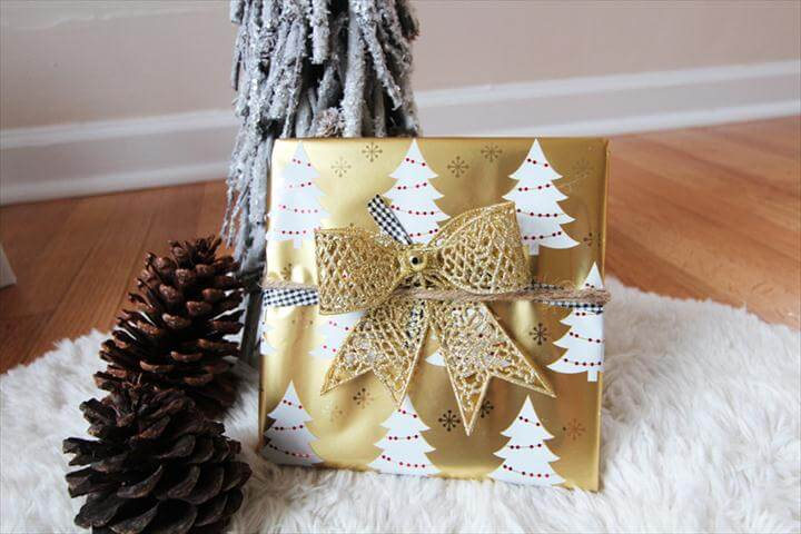 diy gift, gift wrapping idea, do it yourself