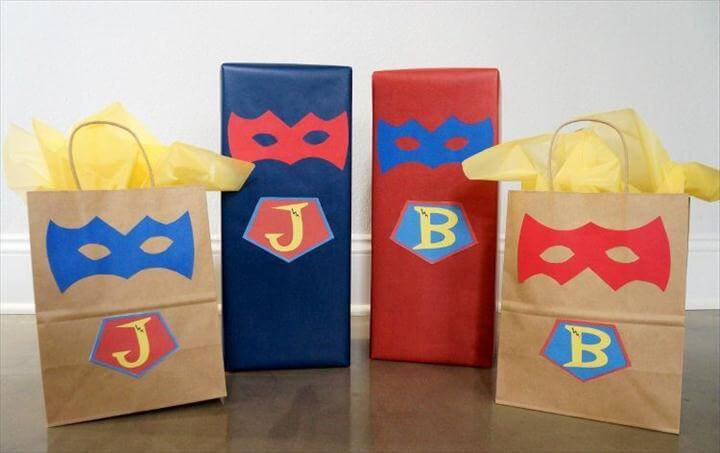 Superhero Gift Wrapping