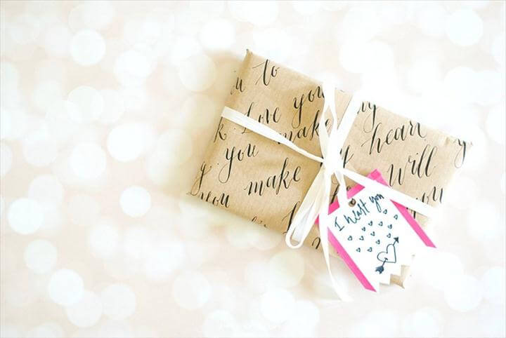 DIY Valentines gift wrap ideas