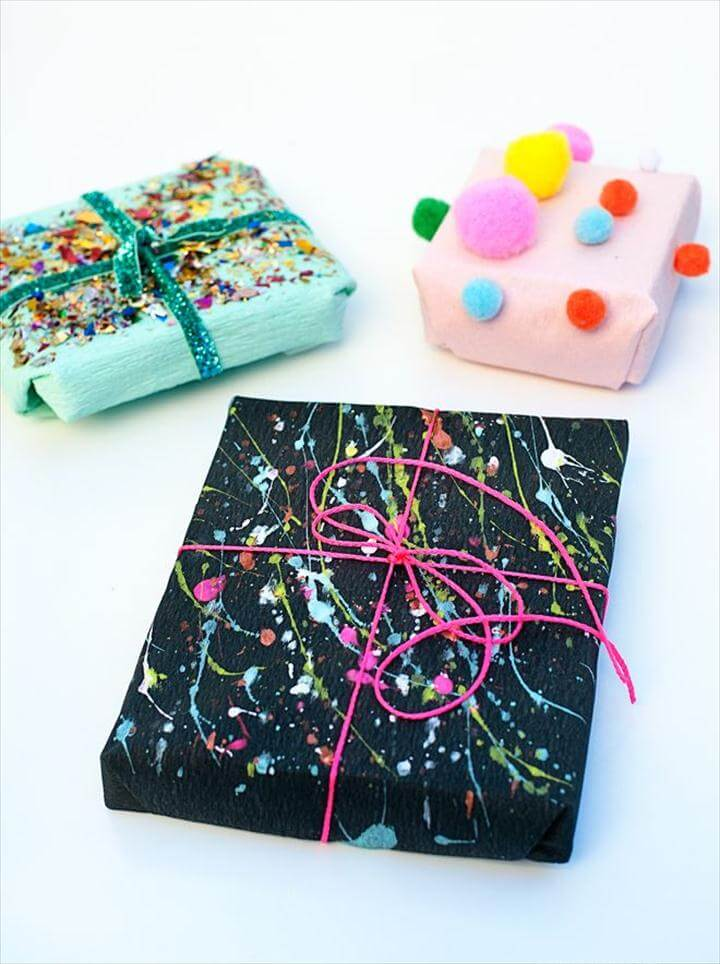 handmade gift wrapping idea