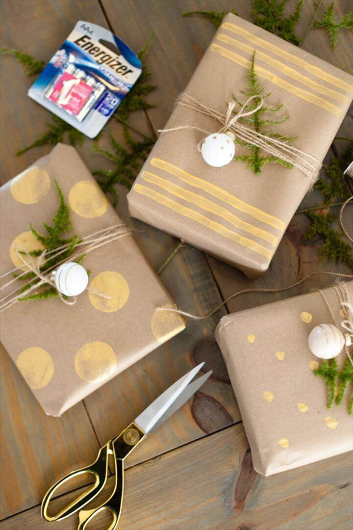 Easy DIY Gift Wrap Ideas for Christmas or any Holiday