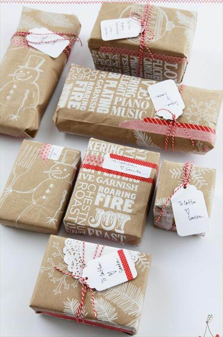 diy gift wrap, gift wrap ideas