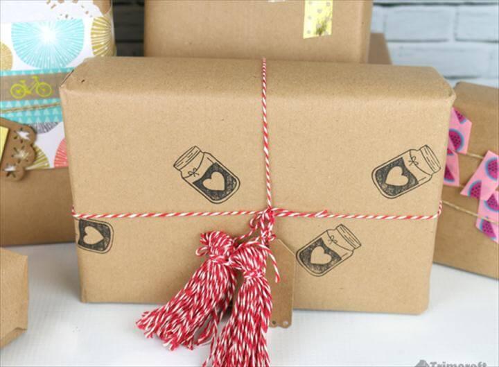 DIY Handmade Gift Wrapping Paper Ideas & Tutorials