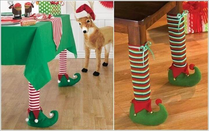 Christmas is Coming So Elf Leg Covers Would be Just So Cool