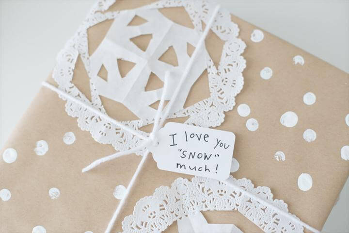 "Snow"" Much DIY Gift Wrap"