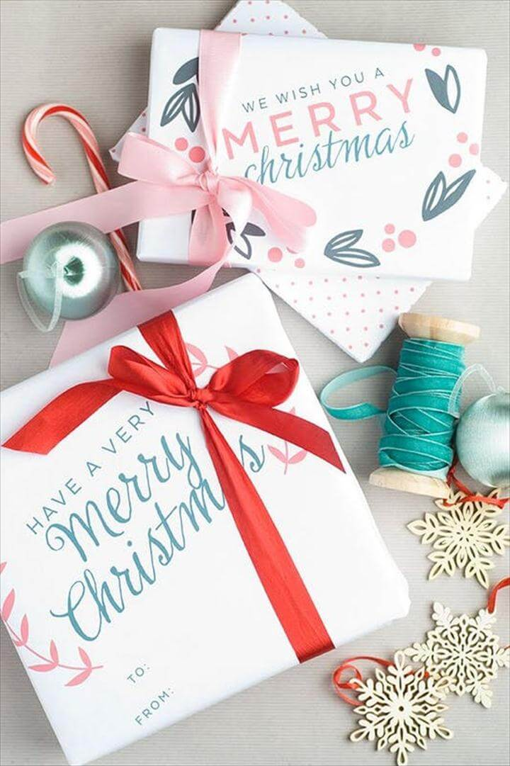 Free Printable Christmas Gift Wrap